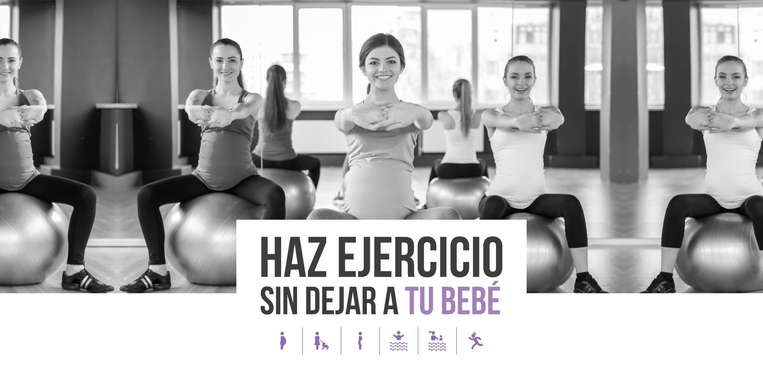 Haz ejercicios sin dejar a tu bebe