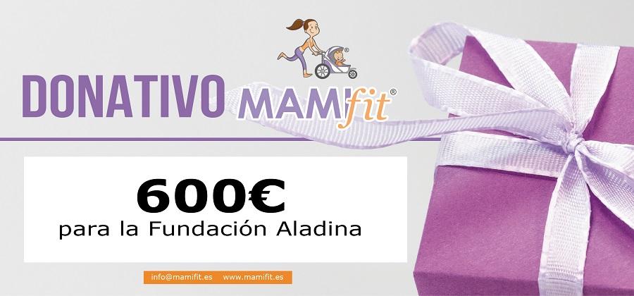 Donamos 600 euros a la Fundación Aladina gracias a ti